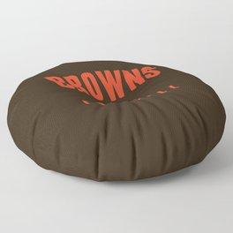 Browns Football Floor Pillow