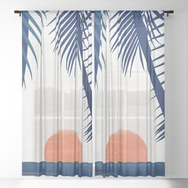 California Dreamin / Abstract Landscape Sheer Curtain