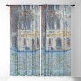 """Claude Monet """"Le Palais Dario"""" Sheer Curtain"""