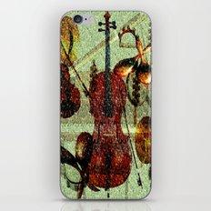 Mint Strings iPhone & iPod Skin