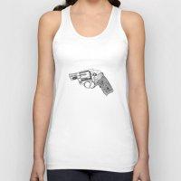 gun Tank Tops featuring Gun by ToppArt