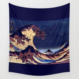 The Great Wave Off Kanagawa Inverted Katsushika Hokusai Wall Tapestry