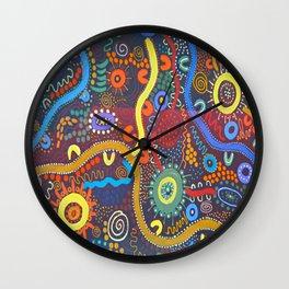 Mbantua Aboriginal Art Gallery Cultural Museum Australia Wall Clock