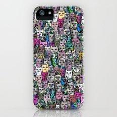 Gemstone Cats CYMK iPhone SE Slim Case