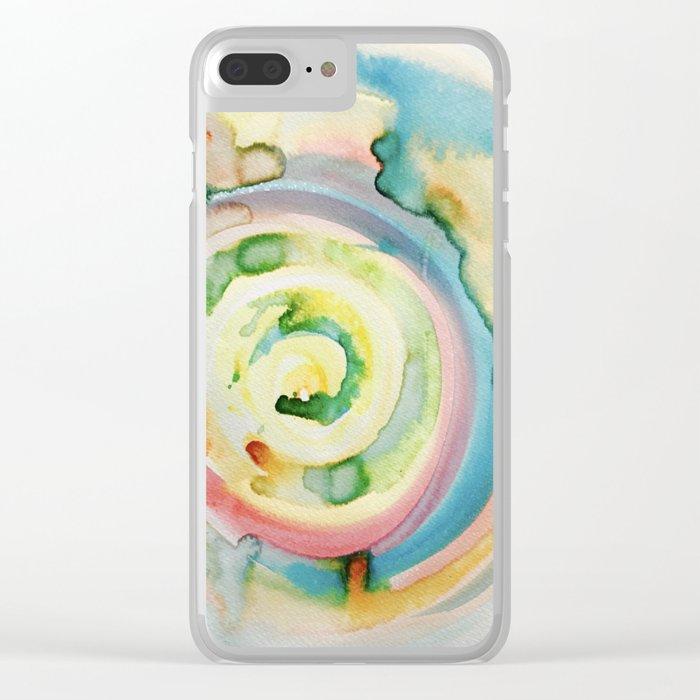 Miami Beach Watercolor #4 Clear iPhone Case