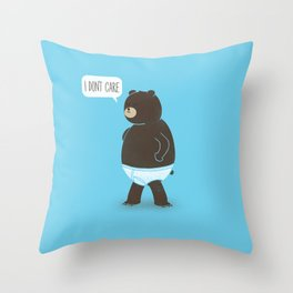 A Bear In Underwear That Just Don't Care Throw Pillow