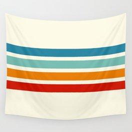 Alaunus - Stripes on Beige Wall Tapestry