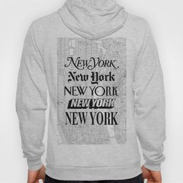 New York City black and white New York poster I love heart NYC Design black-white home wall decor Hoody