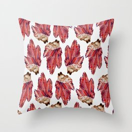 bloodstone crystal cluster Throw Pillow