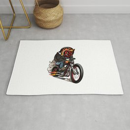 Devil Riders Riding Classic Chopper Bike Rug