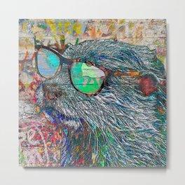 Otter Bro Metal Print