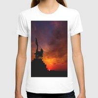 italian T-shirts featuring Italian Sunset by Ruby Tedeschi