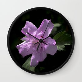 Fancy Rose Of Sharon Wall Clock