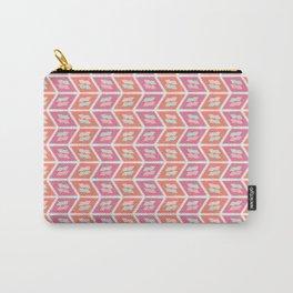 Graphic geometric chevron arrow stripes Carry-All Pouch