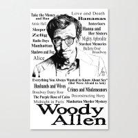 woody allen Canvas Prints featuring Woody Allen by Mark Matlock