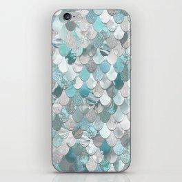 Mermaid Aqua and Grey iPhone Skin