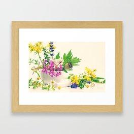 Herbes naturelles Framed Art Print