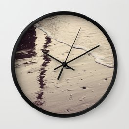 Reflections in the Sand Wall Clock