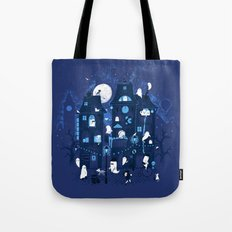 Midnight in Ghost Town Tote Bag