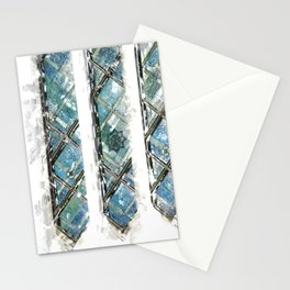 San Diego LDS Temple Window, 8-pointed Star Stationery Cards