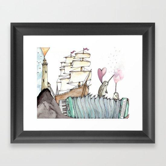 Accordion Sea Framed Art Print
