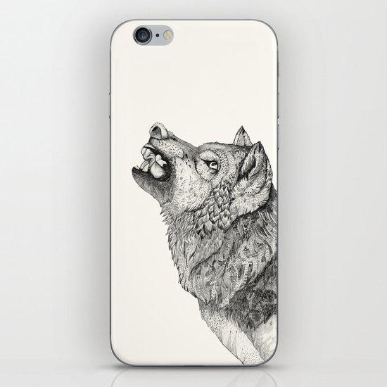 Wolf // Graphite iPhone & iPod Skin