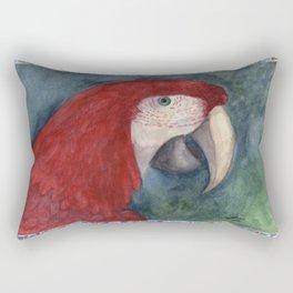 Red Macaw Rectangular Pillow