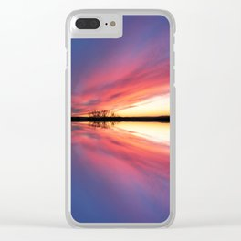 Reflecting Sunset - 8 Clear iPhone Case