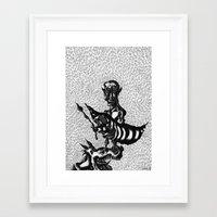 pablo picasso Framed Art Prints featuring Pablo Picasso by Friedrich Nebraska