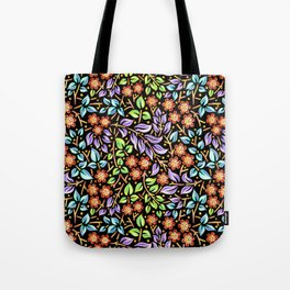 Filigree Floral smaller scale Tote Bag