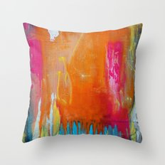 Endless Summer - Abstract Painting Throw Pillow