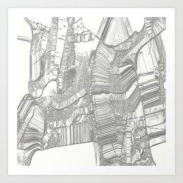 Black and white design Art Print