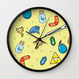 Adventurer's Item Bag Wall Clock