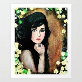 Green Lady Art Print