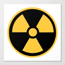 Nuclear Logo Symbol Canvas Print