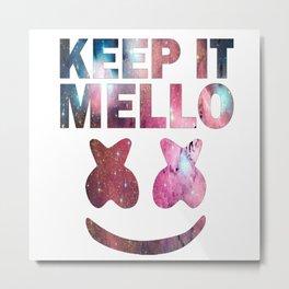 Keep It Mello Nebula Metal Print