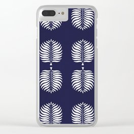 TROPICAL PALMS . BLUE Clear iPhone Case