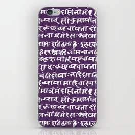 Sanskrit // Scarlet Gum iPhone Skin