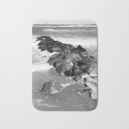 Breakwater on the Baltic Sea Bath Mat