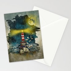 the sea is poetry Stationery Cards