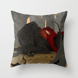 The Big Bad Wolf Throw Pillow