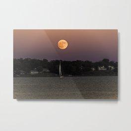 Super Moon Under Sail Metal Print