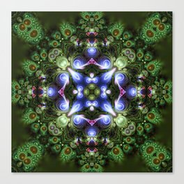 Fractal Forest Indigo Canvas Print