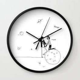 the summertime, and butterflies Wall Clock