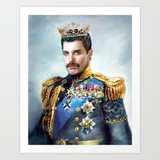 Portrait of the Queen Art Print