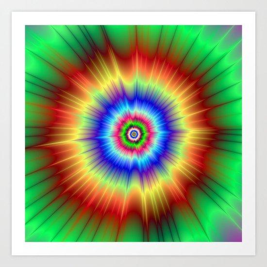 Paint Factory Explosion Art Print