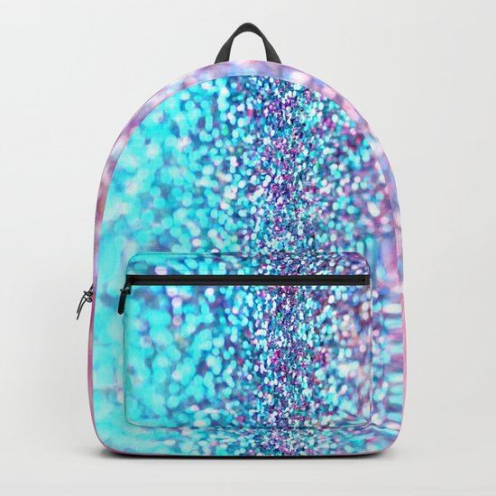 Pastel sparkle- photograph of pink and turquoise glitter Backpack