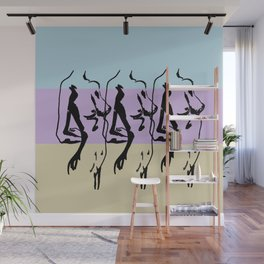 3bodies3Colors Wall Mural