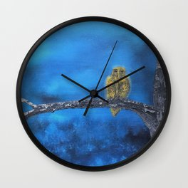 Owlie- The protector of the Forest Wall Clock