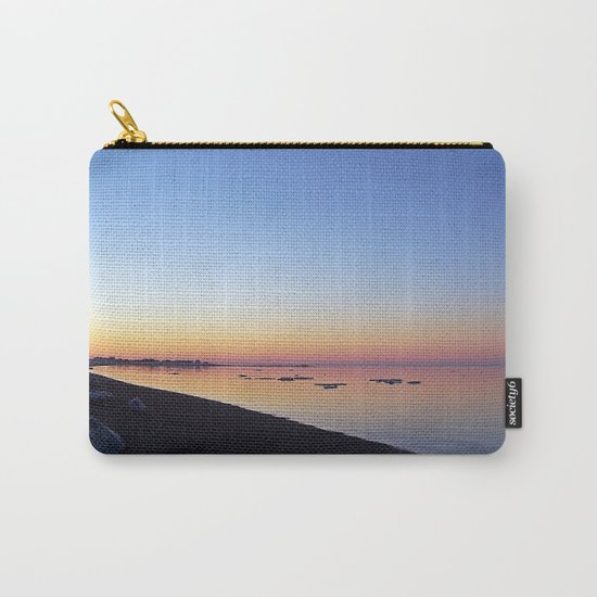 Winter Beach Sunset Carry-All Pouch